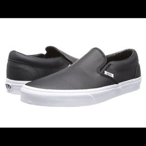 Vans Classic Slip On- Black leather